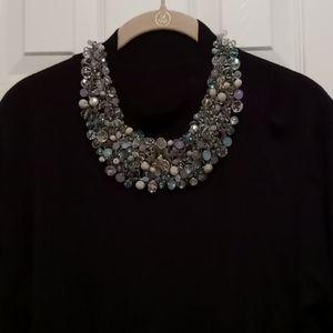 Aldo multi bead wire wrapped bib necklace